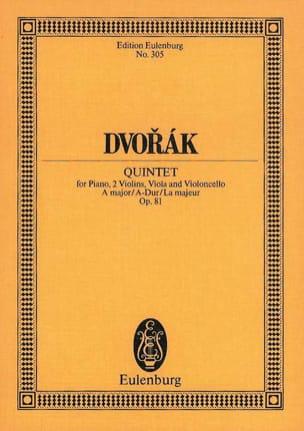 Quintett A-Dur, op. 81 B 155 DVORAK Partition laflutedepan
