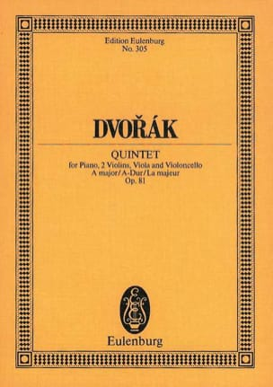 DVORAK - Quintett A-Dur, op. 81 B 155 - Partitura - di-arezzo.es