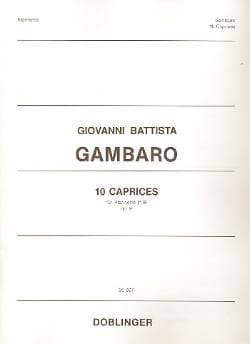 Giovanni Battista Gambaro - 10 Caprices op. 9 - Sheet Music - di-arezzo.com