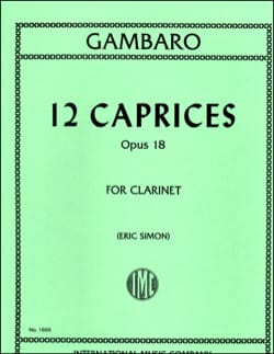 Giovanni Battista Gambaro - 12 Caprices op.18 - Sheet Music - di-arezzo.com