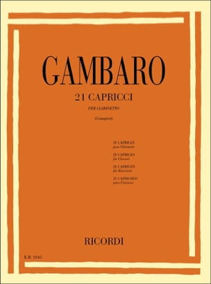 Vincenzo Gambaro - 21 Capricci - Sheet Music - di-arezzo.co.uk