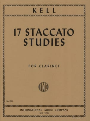 Reginald Kell - 17 Staccato Studies - Sheet Music - di-arezzo.com