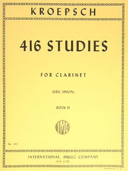 Fritz Kroepsch - 416 Studies - Volume 2 - Sheet Music - di-arezzo.com