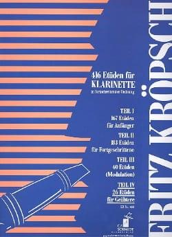 416 Etüden für Klarinette - Teil 4 Fritz Kroepsch laflutedepan