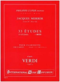 33 Etudes d'après Verdi - Jacques Merrer - laflutedepan.com