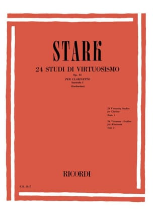 Robert Stark - 24 Studi Di Virtuosismo Op. 51 - Volume 1 - Partitura - di-arezzo.it