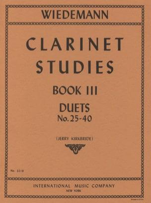 Ludwig Wiedemann - Estudios de clarinete - Volumen 3 - Partitura - di-arezzo.es