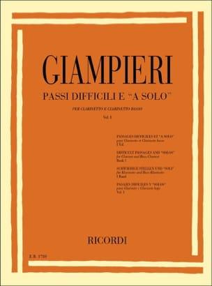 Alamiro Giampieri - Passi difficili ea solo - Volume 1 - Sheet Music - di-arezzo.co.uk