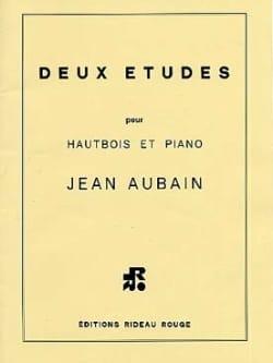 Jean Aubain - 2 Etudes pour hautbois et piano - Partition - di-arezzo.fr