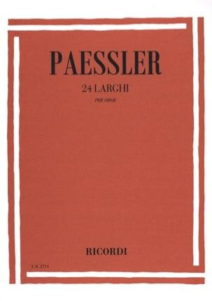 Carlo Paessler - 24 Larghi per oboe - Partition - di-arezzo.fr
