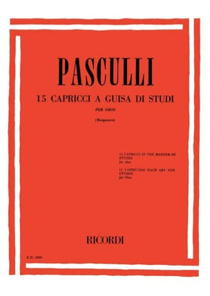 Antonino Pasculli - 15 Capricci a guisa di studi - Sheet Music - di-arezzo.co.uk