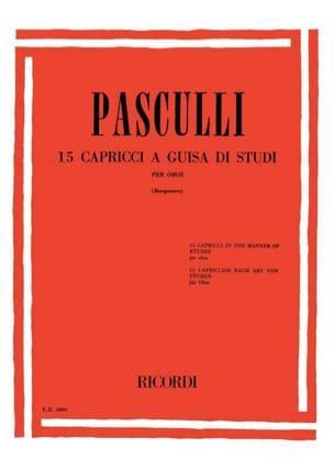 Antonino Pasculli - 15 Capricci a guisa di studi - Partition - di-arezzo.fr