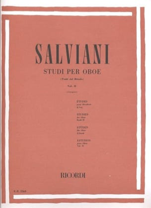 Clemente Salviani - Studi Per Oboe Volume 2 - Sheet Music - di-arezzo.co.uk