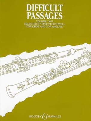 Evelyn Rothwell - Difficult passages - Volume 2 - Oboe / Cor anglais - Partition - di-arezzo.fr