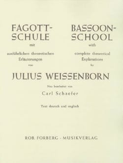 Julius Weissenborn - Fagott-Schule - Sheet Music - di-arezzo.co.uk