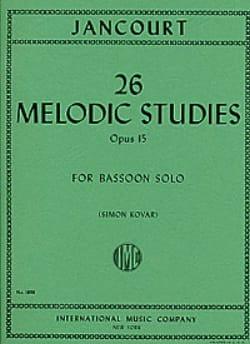 26 Melodic studies op. 15 - Eugène Jancourt - laflutedepan.com