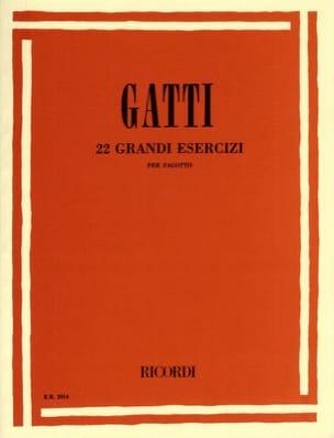 Nazzareno Gatti - 22 Grandi esercizi - Partitura - di-arezzo.es