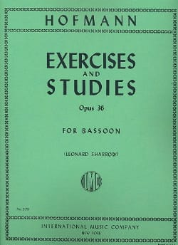 F. H. Hofmann - Exercices and Studies op. 36 - Partition - di-arezzo.fr
