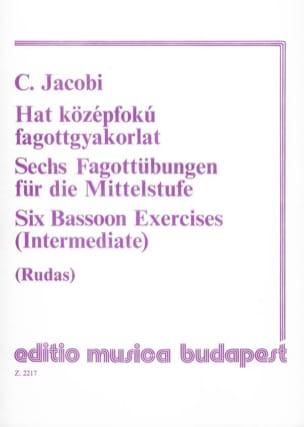Conrad Jacobi - 6 Fagottübungen - Partitura - di-arezzo.es