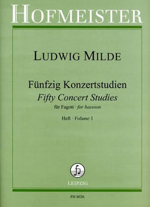 Ludwig Milde - 50 Konzertstudien - Heft 1 - Partition - di-arezzo.co.uk