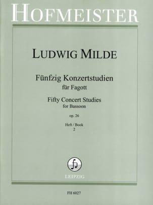Ludwig Milde - 50 Konzertstudien - Heft 2 - Partition - di-arezzo.es
