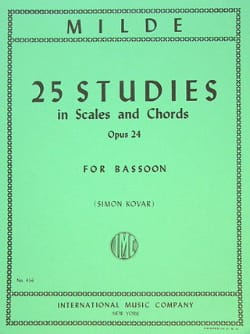 Ludwig Milde - 25 Studies in scales and chords op. 24 - Partition - di-arezzo.fr