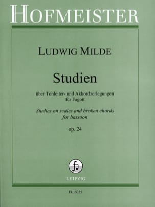 Ludwig Milde - Studien op. 24 - Partitura - di-arezzo.es