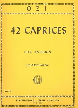 Etienne Ozi - 42 Caprices - Bassoon - Sheet Music - di-arezzo.com