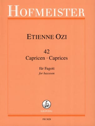 42 Capricen -Fagott Etienne Ozi Partition Basson - laflutedepan
