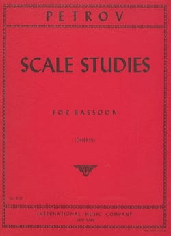 I. A. Petrov - Scale studies - Bassoon - Sheet Music - di-arezzo.com
