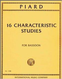 Marius Piard - 16 Characteristic Studies - Sheet Music - di-arezzo.com