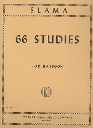 66 Studies – Bassoon - Anton Slama - Partition - laflutedepan.com