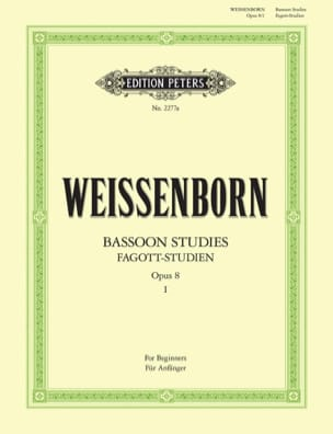 Julius Weissenborn - Fagott Studien op. 8 - Heft 1 - Sheet Music - di-arezzo.co.uk