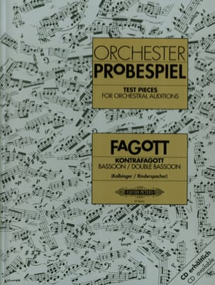 Kolbinger Karl / Rinderspacher Alfred - Orchestral strokes for bassoon and contrabassoon - Sheet Music - di-arezzo.com