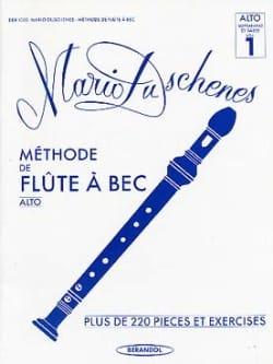 Mario Duschenes - Méthode de Flûte à Bec Alto Volume 1 - Partition - di-arezzo.fr
