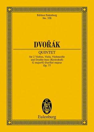 DVORAK - Quintett G-Dur, Op. 77 - Driver - Sheet Music - di-arezzo.co.uk