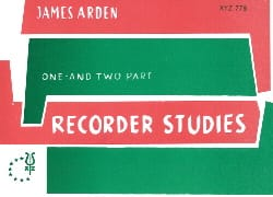 James Arden - Recorder studies - Partition - di-arezzo.fr