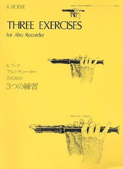 Kees Boeke - 3 Exercises - Partition - di-arezzo.fr