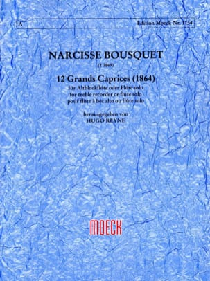 12 Grands caprices 1864 Narcisse Bousquet Partition laflutedepan