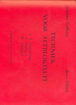 Collette Joannes / Otten Kees - Techniek voor Altblokfluit - Volume 1 - Sheet Music - di-arezzo.com