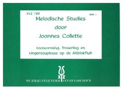 Joannes Collette - Melodische Studies – Volume 2 - Partition - di-arezzo.fr