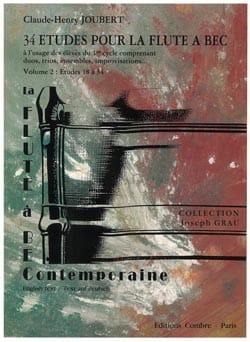Claude-Henry Joubert - 34 Etudes - Vol.2 - Flûte A Bec Soprano - Partition - di-arezzo.fr
