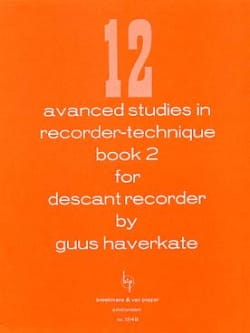 Guus Haverkate - 12 Advanced studies in recorder-technique Volume 2 - Sheet Music - di-arezzo.com