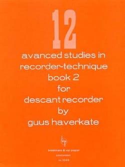 12 Advanced studies in recorder-technique Volume 2 - laflutedepan.com