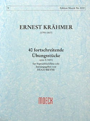 Ernest Krähmer - 40 fortschreitende Übungsstücke op. 1 - Partition - di-arezzo.fr