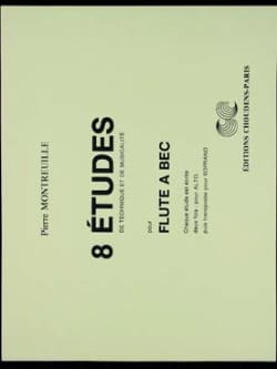 Pierre Montreuille - 8 Etudes - Recorder - Sheet Music - di-arezzo.co.uk
