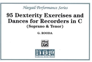 G. Rooda - 95 Dexterity exercises and dances - Recorders in C - Partition - di-arezzo.fr