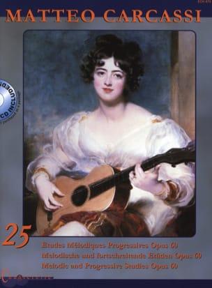 Matteo Carcassi - 25 études mélodiques progressives op.60 - Partition - di-arezzo.fr