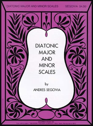 Andrés Segovia - Diatonic major and minor scales - Sheet Music - di-arezzo.com