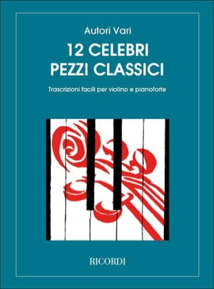 12 Celebri Pezzi Classici - Violon Ricordi Album laflutedepan